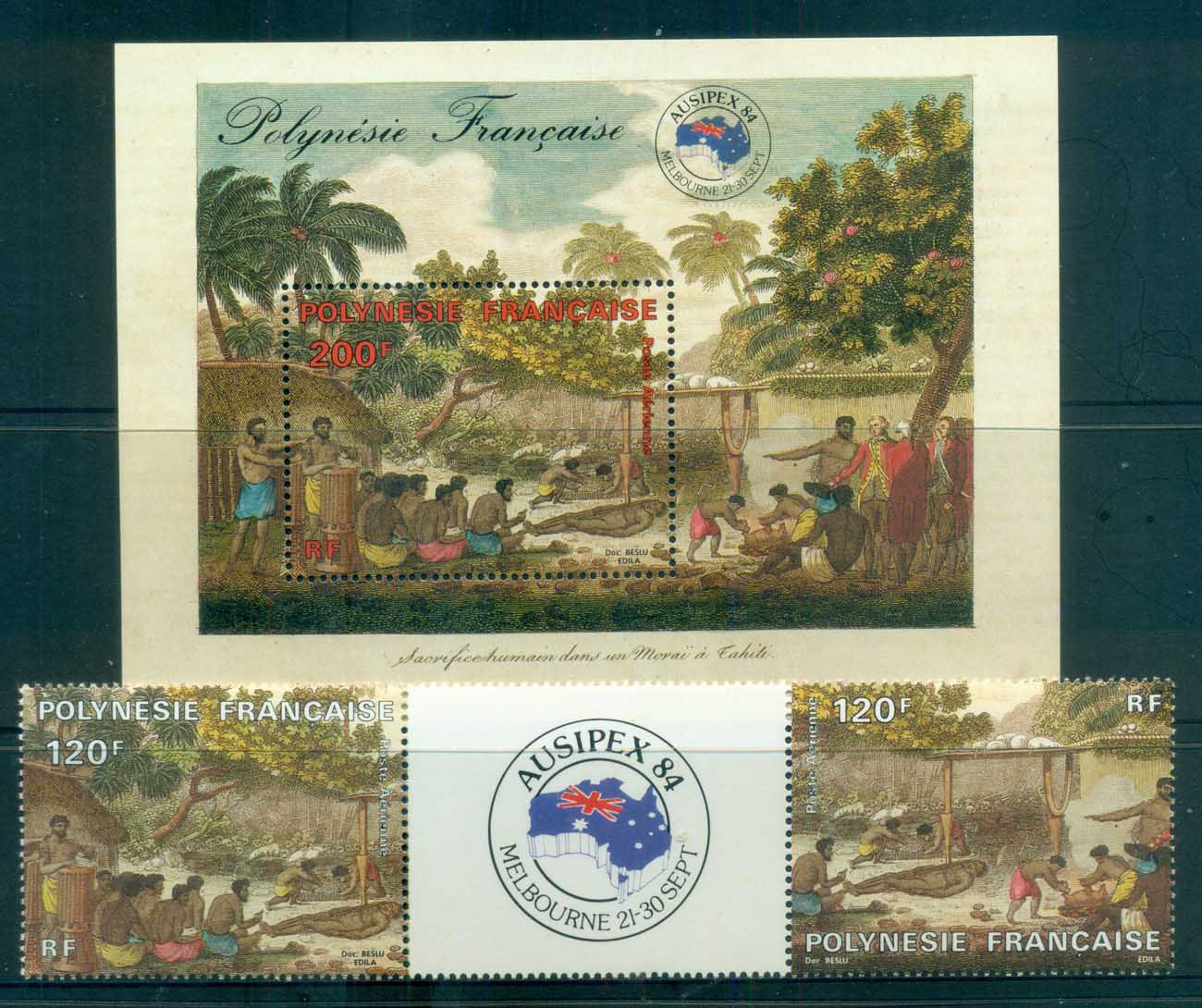 French Polynesia 1984 AUSIPEX + MS MUH lot81525