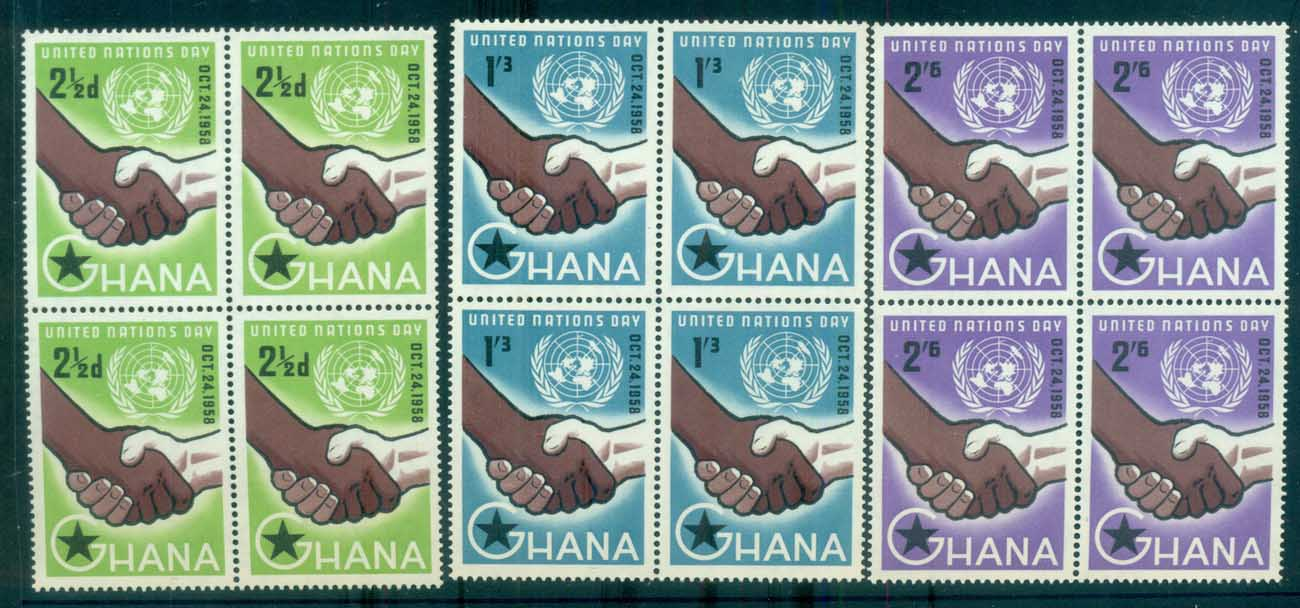 Ghana 1958 United Nations Day Blk 4 MUH lot81528