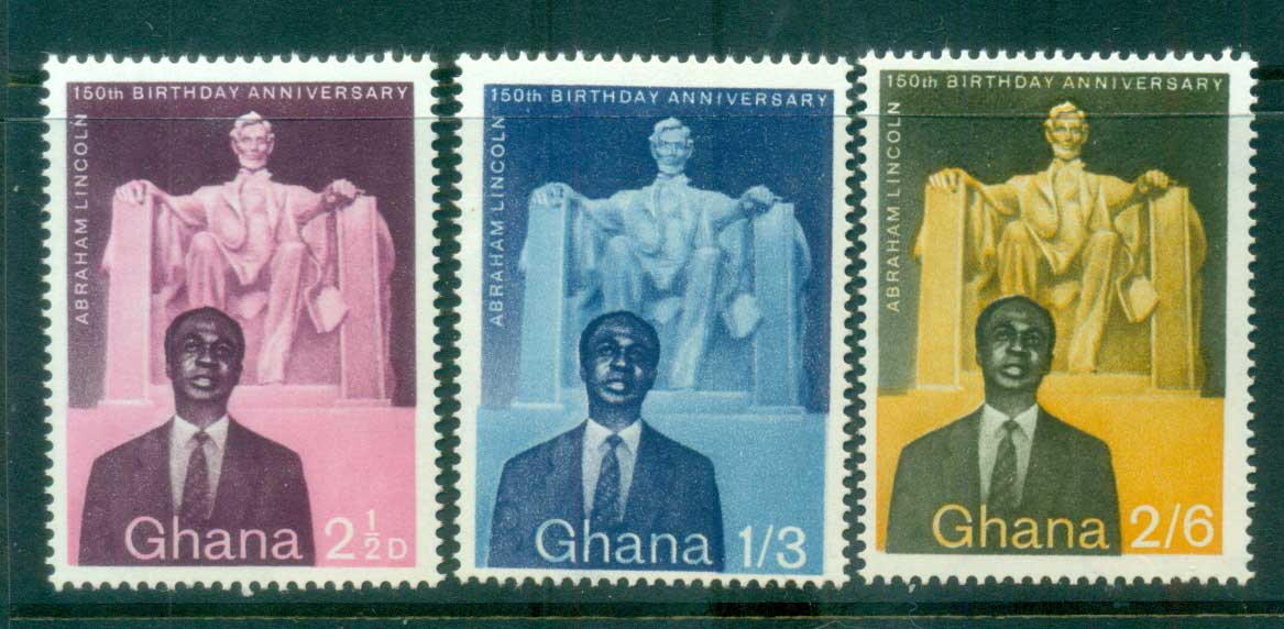 Ghana 1959 Lincoln Birth Sesquicentennial MUH lot81530