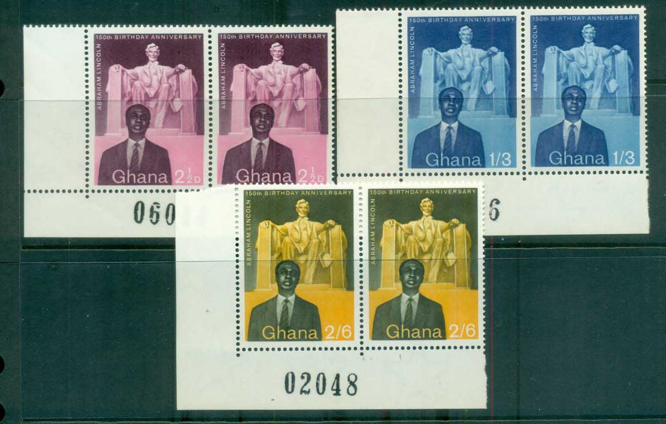 Ghana 1959 Lincoln Birth Sesquicentennial prs MUH lot81531