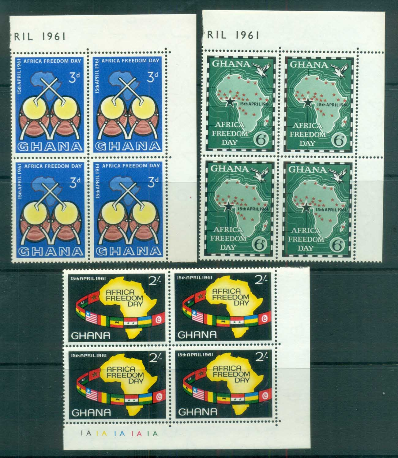 Ghana 1961 Africa Freedom Day Blk 4 MUH lot81535