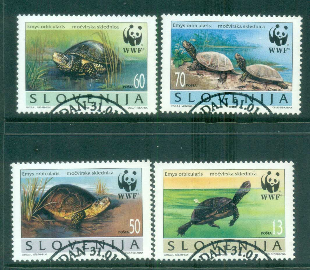 Slovenia 1996 WWF European Pond Tortoise FU Lot81597