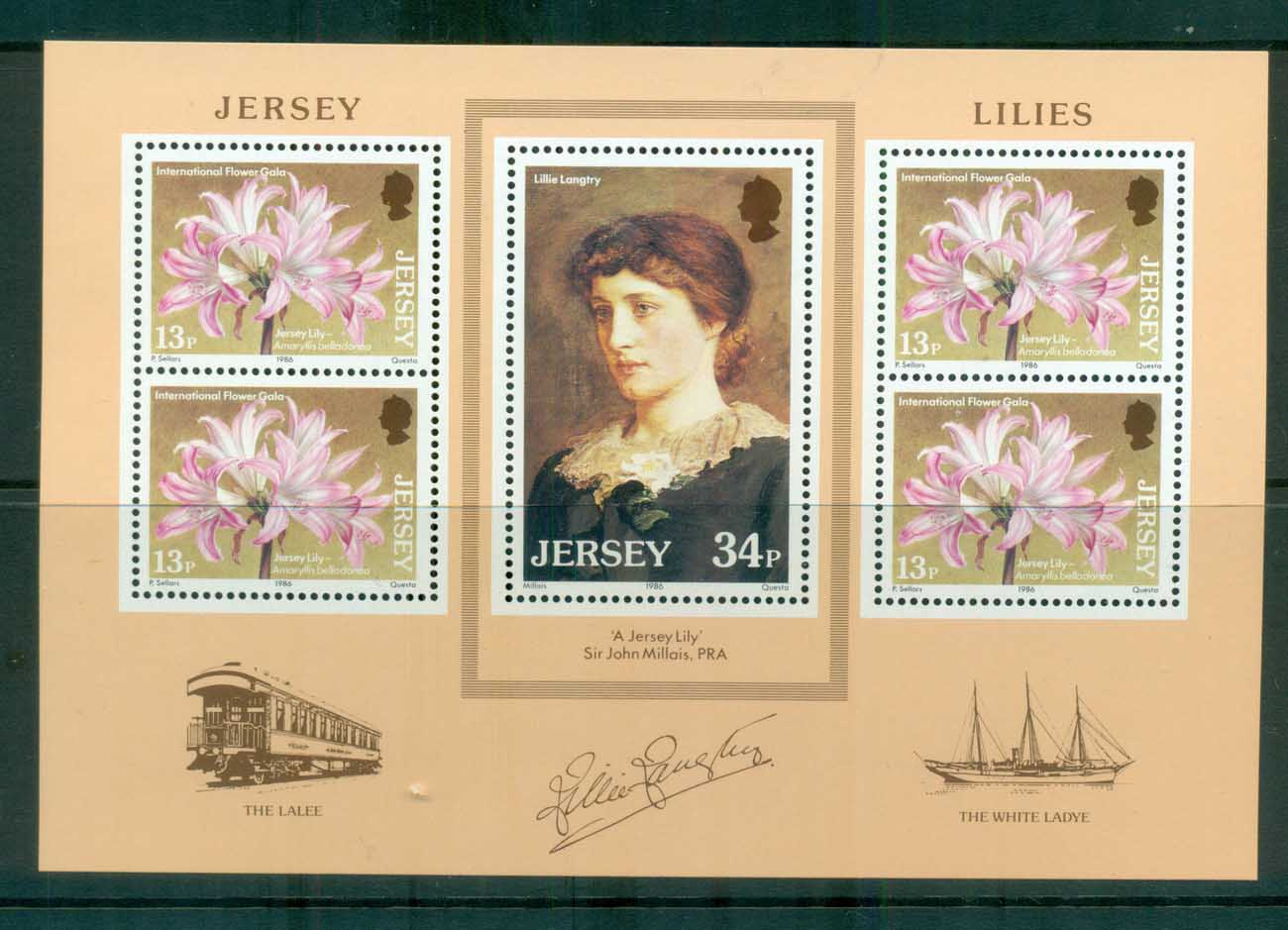 Jersey 1986 Lillie Langtree MS MUH lot81641