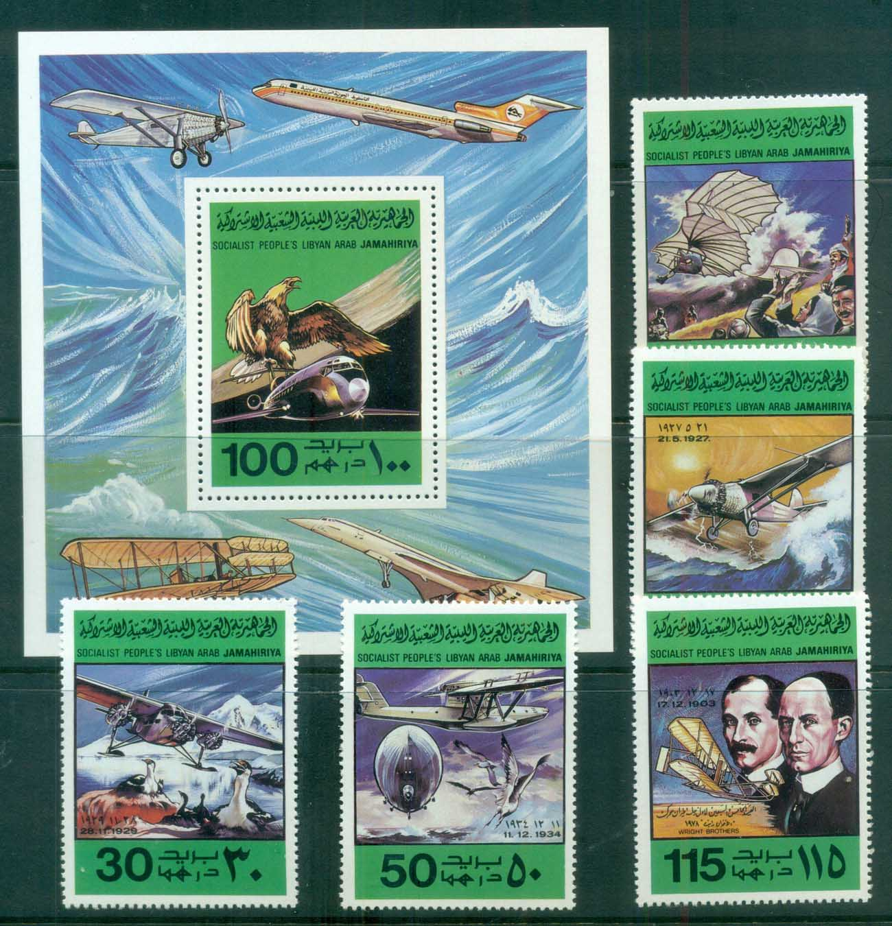 Libya 1978 Aviation + 1xMS MUH lot81690