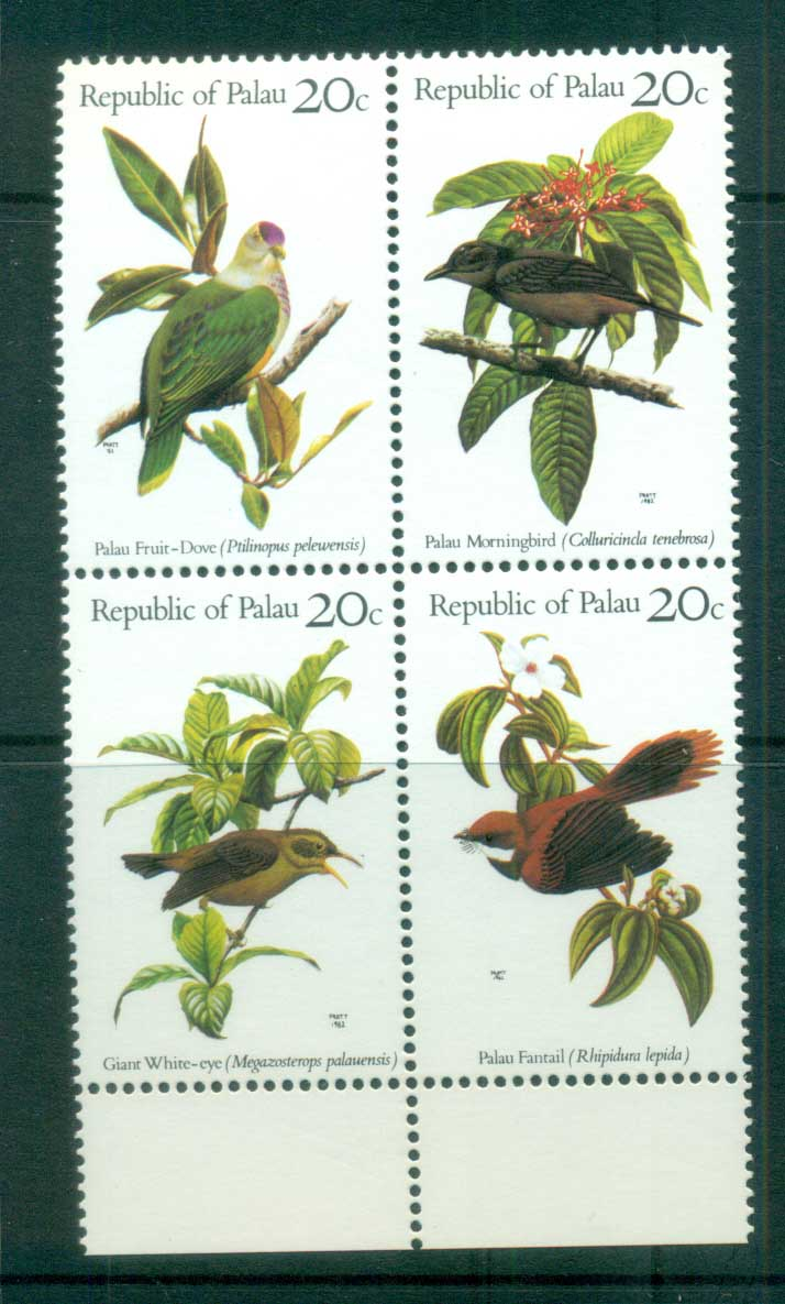 Palau 1983 Birds Blk 4 MUH lot81706