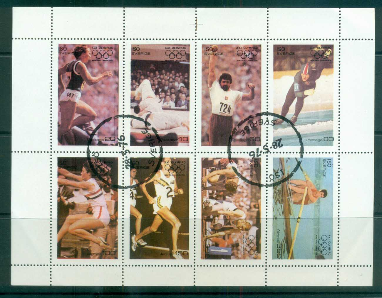 Iso 1976 Athletics, Olympics Sheetlet CTO lot81775