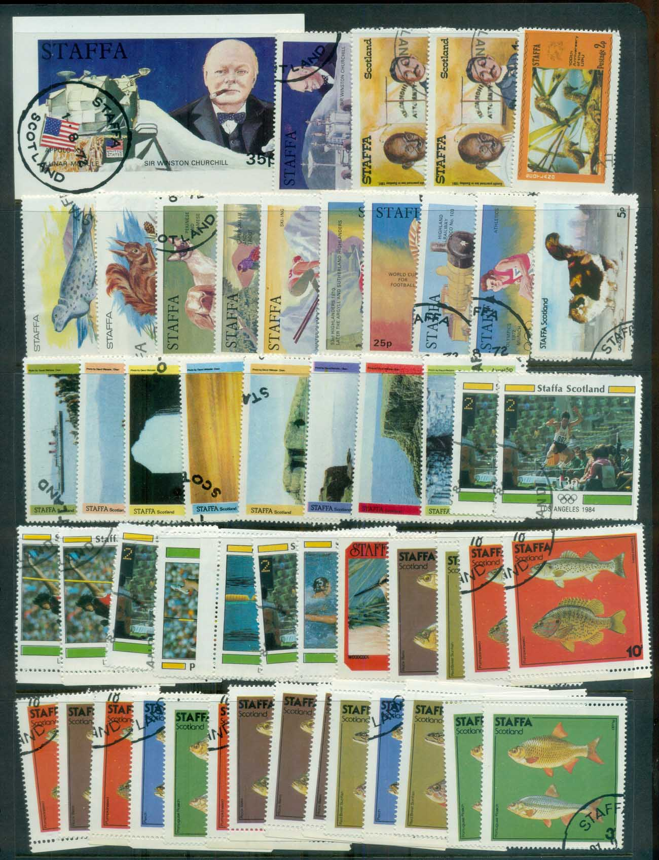 Staffa 1970's Assorted Oddments CTO lot81788