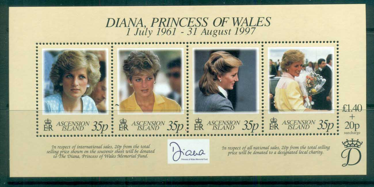 Ascension Is 1998 Princess Diana in Memoriam MS MUH lot81807