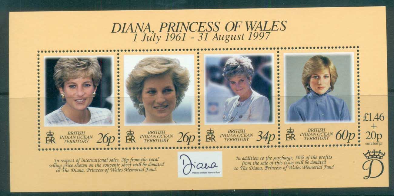 BIOT 1998 Princess Diana in Memoriam MS MUH lot81812