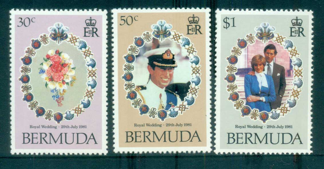 Bermuda 1981 Charles & Diana Royal Wedding MUH lot81837