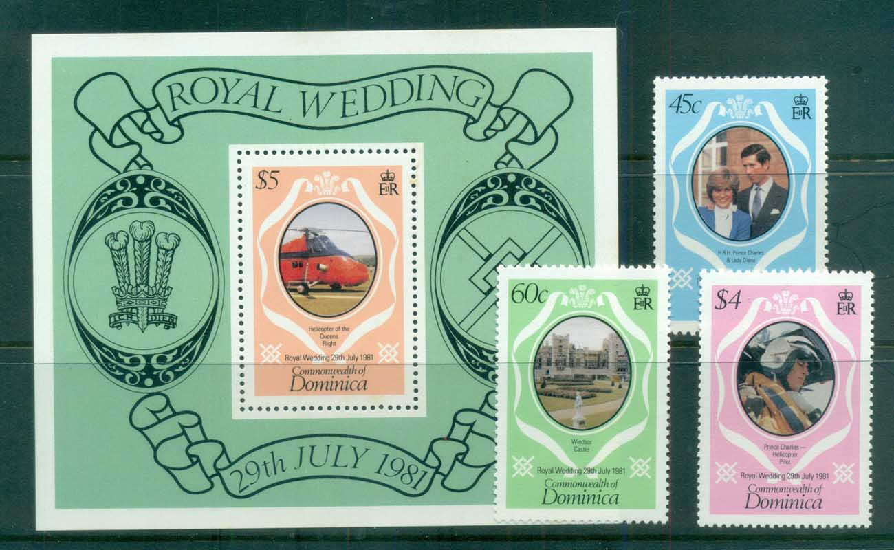 Dominica 1981 Charles & Diana Royal Wedding +MS MUH lot81856