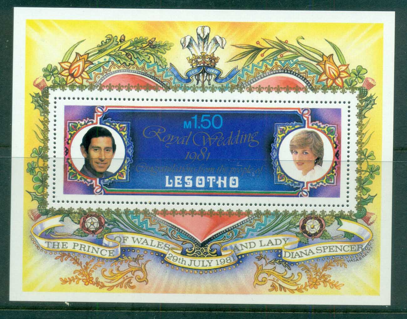 Lesotho 1981 Charles & Diana Royal Wedding MS MUH lot81881