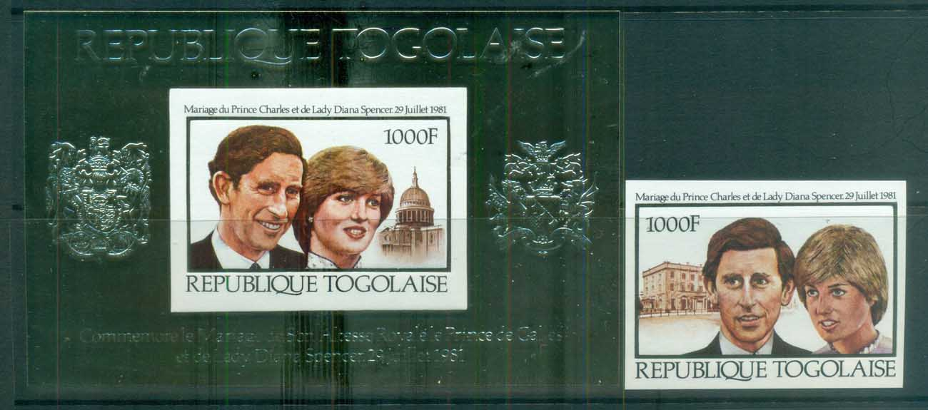 Togo 1981 Charles & Diana Royal Wedding IMPERF + MS MUH lot81907