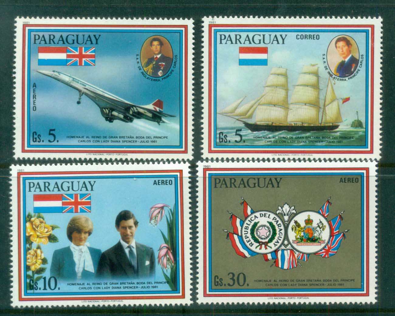 Paraguay 1981 Charles & Diana Royal Wedding MUH lot81924