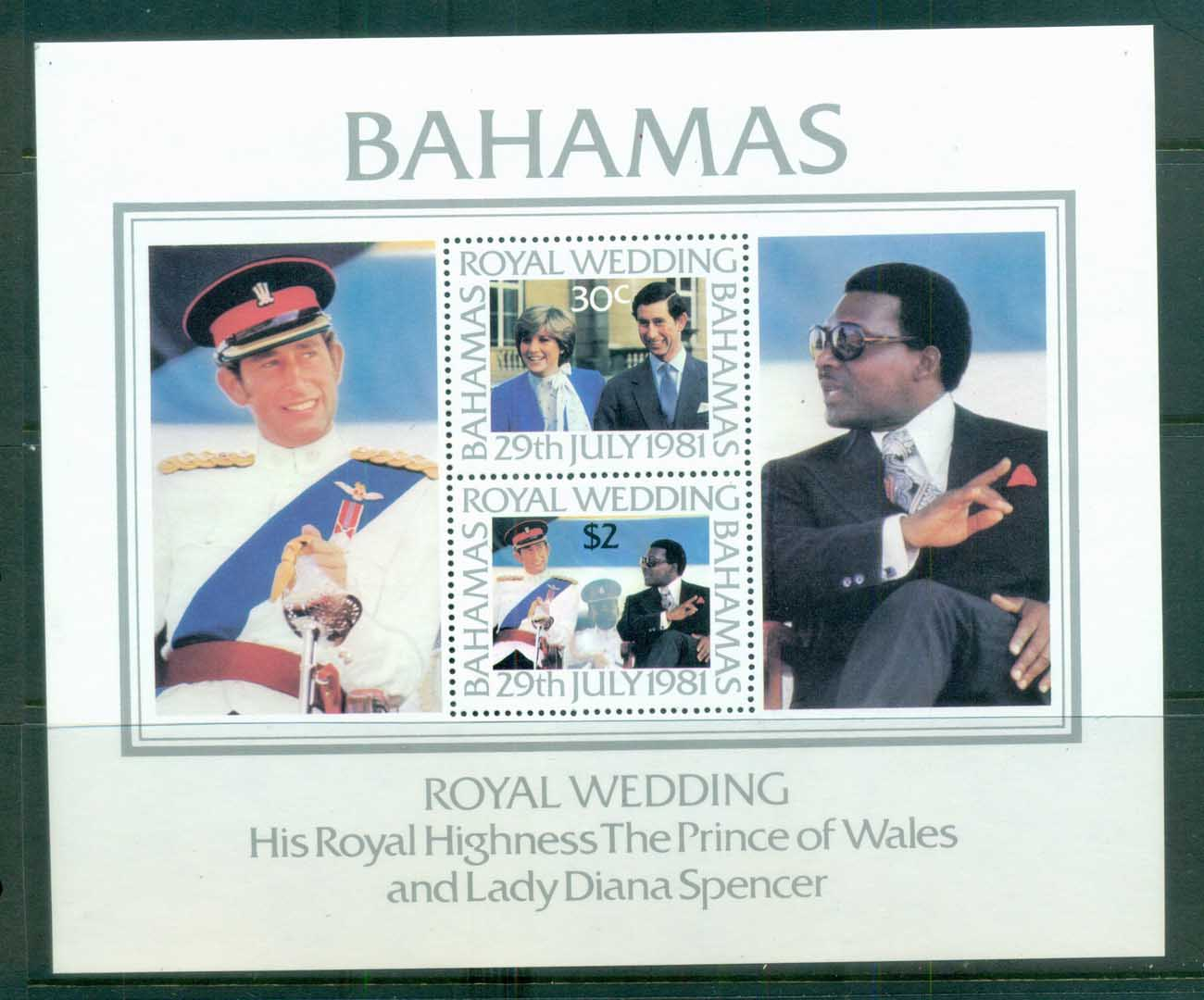 Bahamas 1981 Charles & Diana Royal Wedding MS MUH lot81932