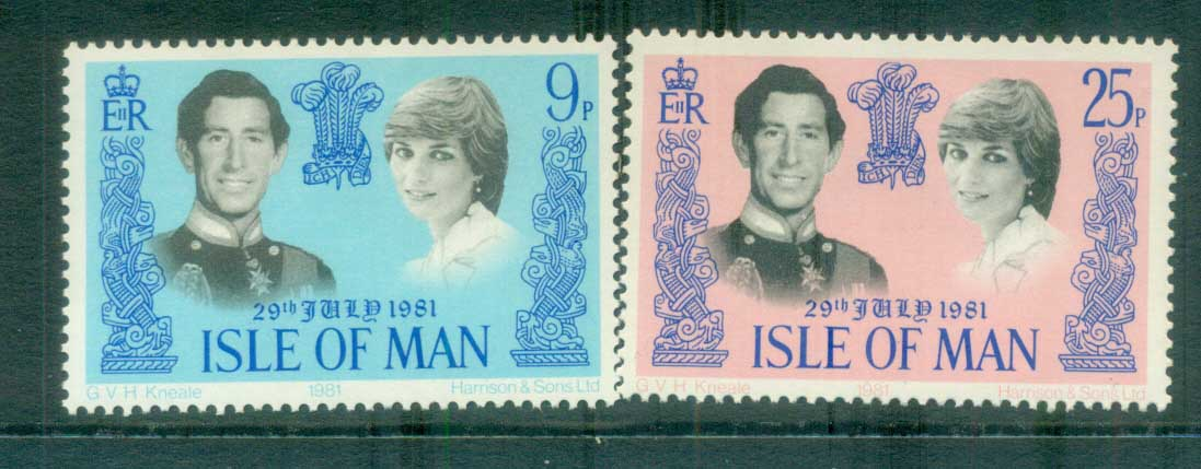 Isle of Man 1981 Charles & Diana Royal Wedding MUH lot81936