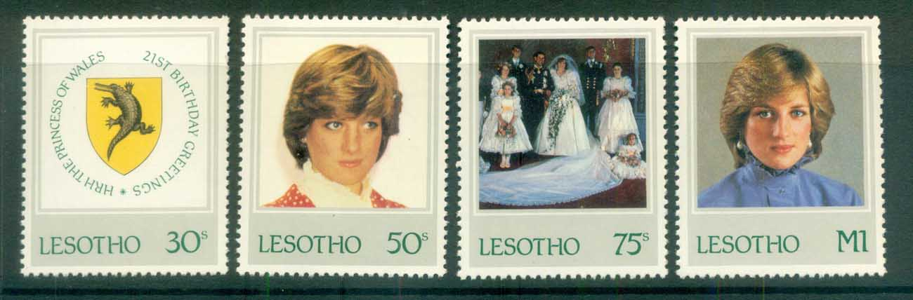 Lesotho 1982 Princess Diana 21st Birthday MLH lot81970