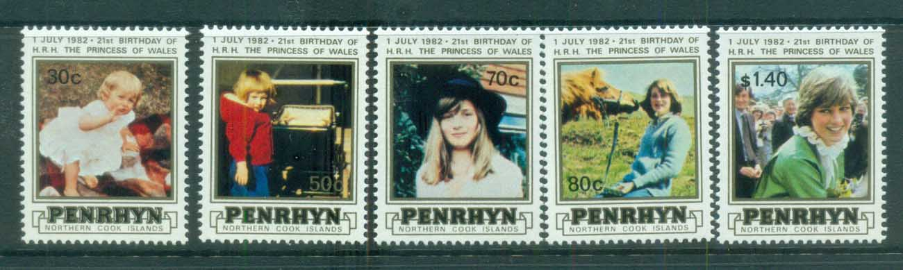 Penrhyn Is 1982 Princess Diana 21st Birthday MUH lot81988