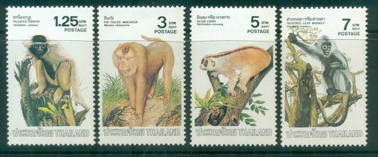 Thailand 1982 Monkeys MUH lot82054