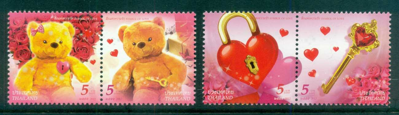 Thailand 2012 With Love, Hearts, Bears pairs MUH lot82084
