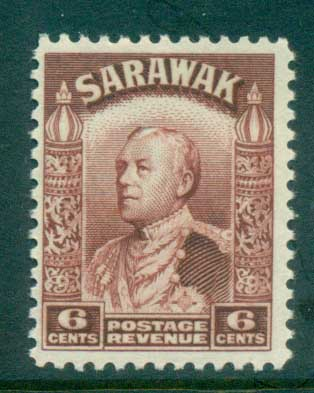 Sarawak 1934-41 Sir Charles Vyner Brooke 6c red brown MUH lot82201