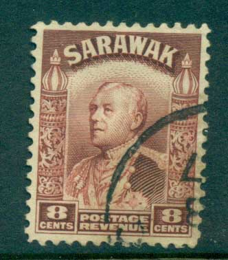 Sarawak 1934-41 Sir Charles Vyner Brooke 8c red brown FU lot82213