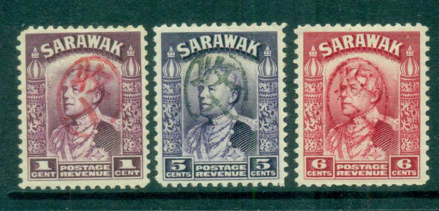 Sarawak 1934-41 Sir Charles Vyner Brooke Opt Revenues ? MLH lot82269