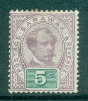 Sarawak 1888-97 Sir Charles Johnson Brooke 5c MH lot82293