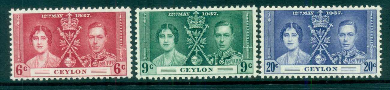 Ceylon 1937 Coronation MUH lot82437