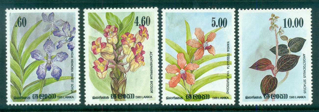 Sri Lanka 1984 Orchid Circle Anniv, Flowers MLH lot82442