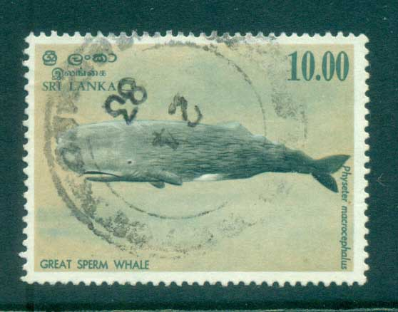 Sri Lanka 1983 Great Sperm Whale 10r FU lot82449