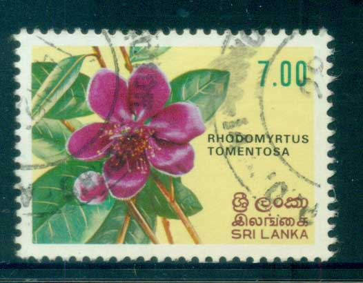 Sri Lanka 1982 Flowers 7r FU lot82450