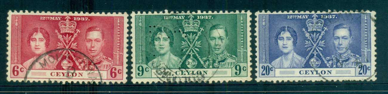 Ceylon 1937 Coronation FU lot82481