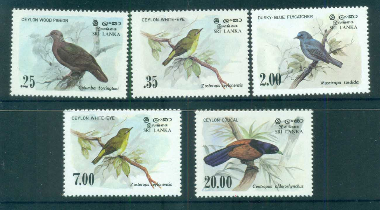 Sri Lanka 1983-88 Birds MUH lot82501