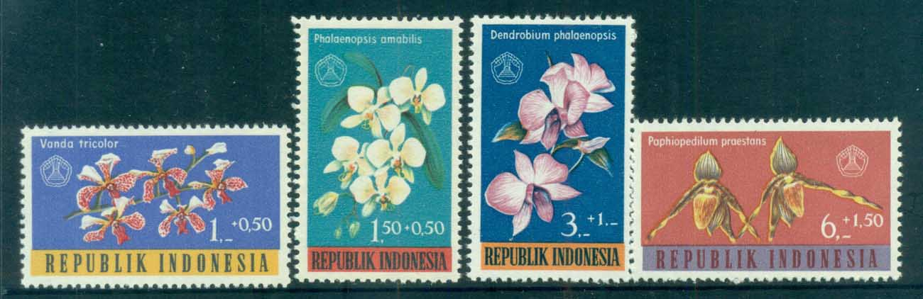 Indonesia 1962 Orchids, Flowers MUH lot82541