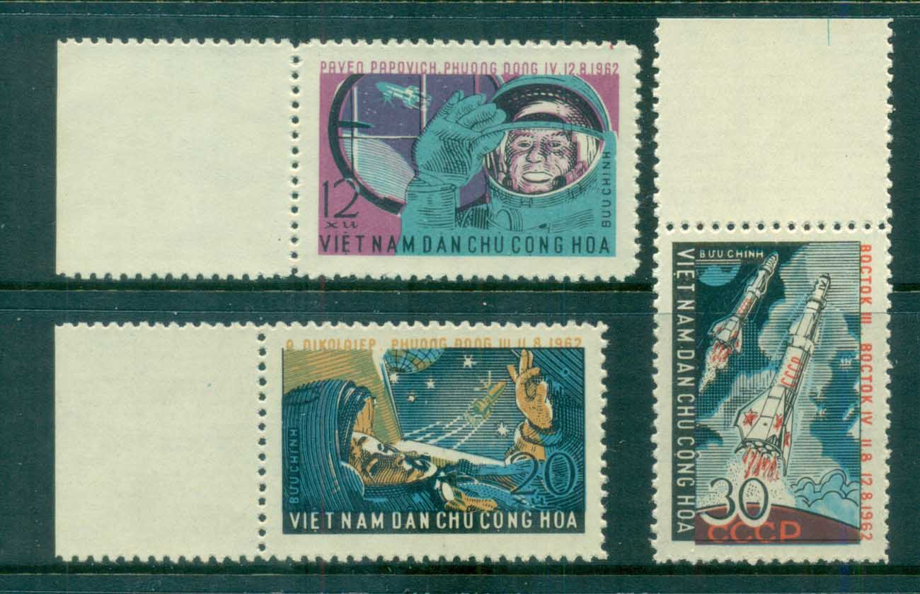 Vietnam North 1962 Vostok 3 Space Flights MUH lot83644