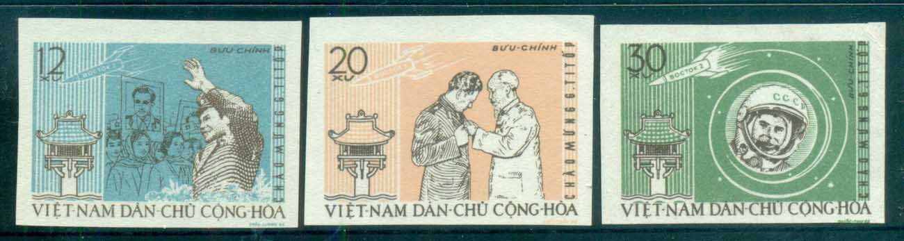 Vietnam North 1962 Visit by Gherman Titov IMPERF MUH lot83651