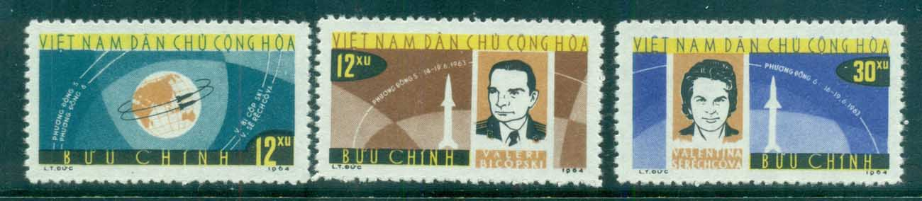 Vietnam North 1964 Vostok 5 & 6 Space Flights MUH lot83660