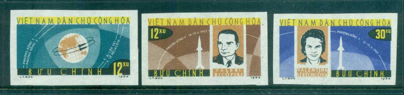 Vietnam North 1964 Vostok 5 & 6 Space Flights IMPERF MUH lot83661