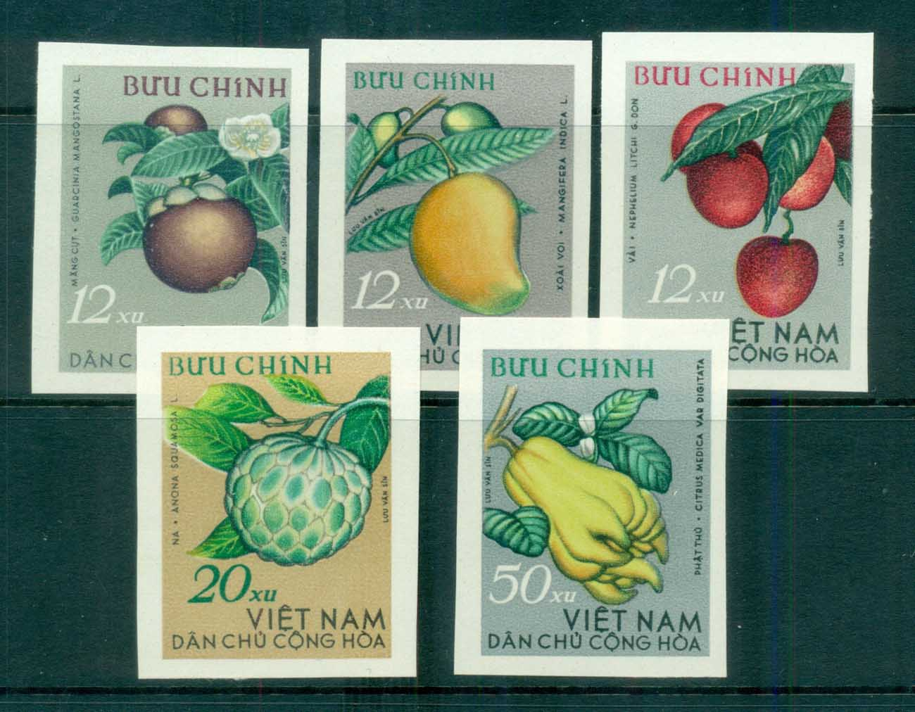 Vietnam North 1964 Fruits IMPERF MUH lot83667