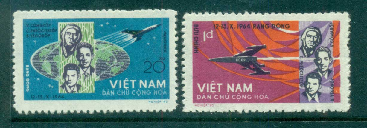 Vietnam North 1965 Voshkod 1 Space Flight MUH lot83668