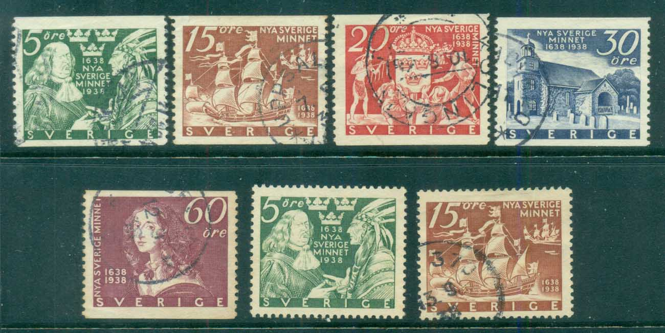 Sweden 1938 Tercentenary of Settlement at Wilmington FU lot83777