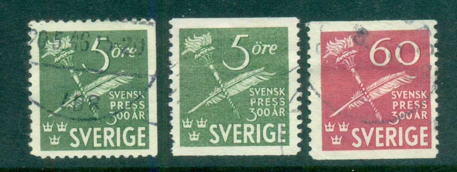 Sweden 1945 Tercentenary of Swedish Press FU lot83796