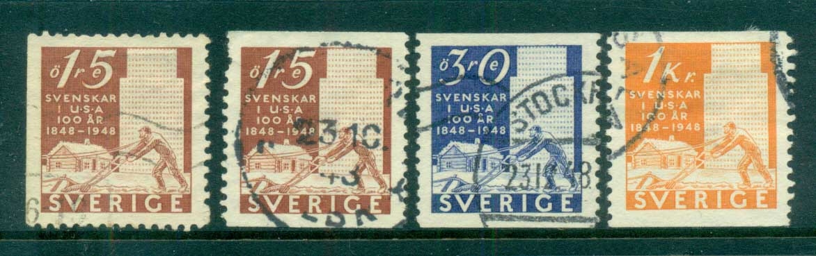 Sweden 1948 Pioneers Settlement USA FU lot83804