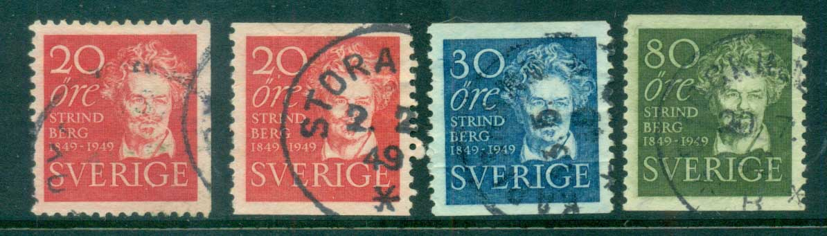 Sweden 1949 August Strindberg, Author FU lot83805