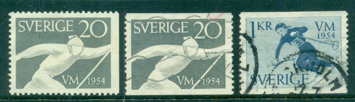 Sweden 1954 World Ski Championship Matches MH/FU lot83815