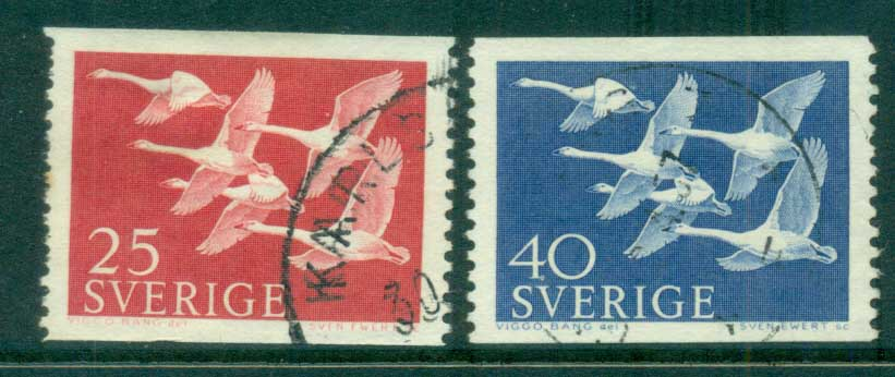 Sweden 1956 Whooper Swans FU lot83820