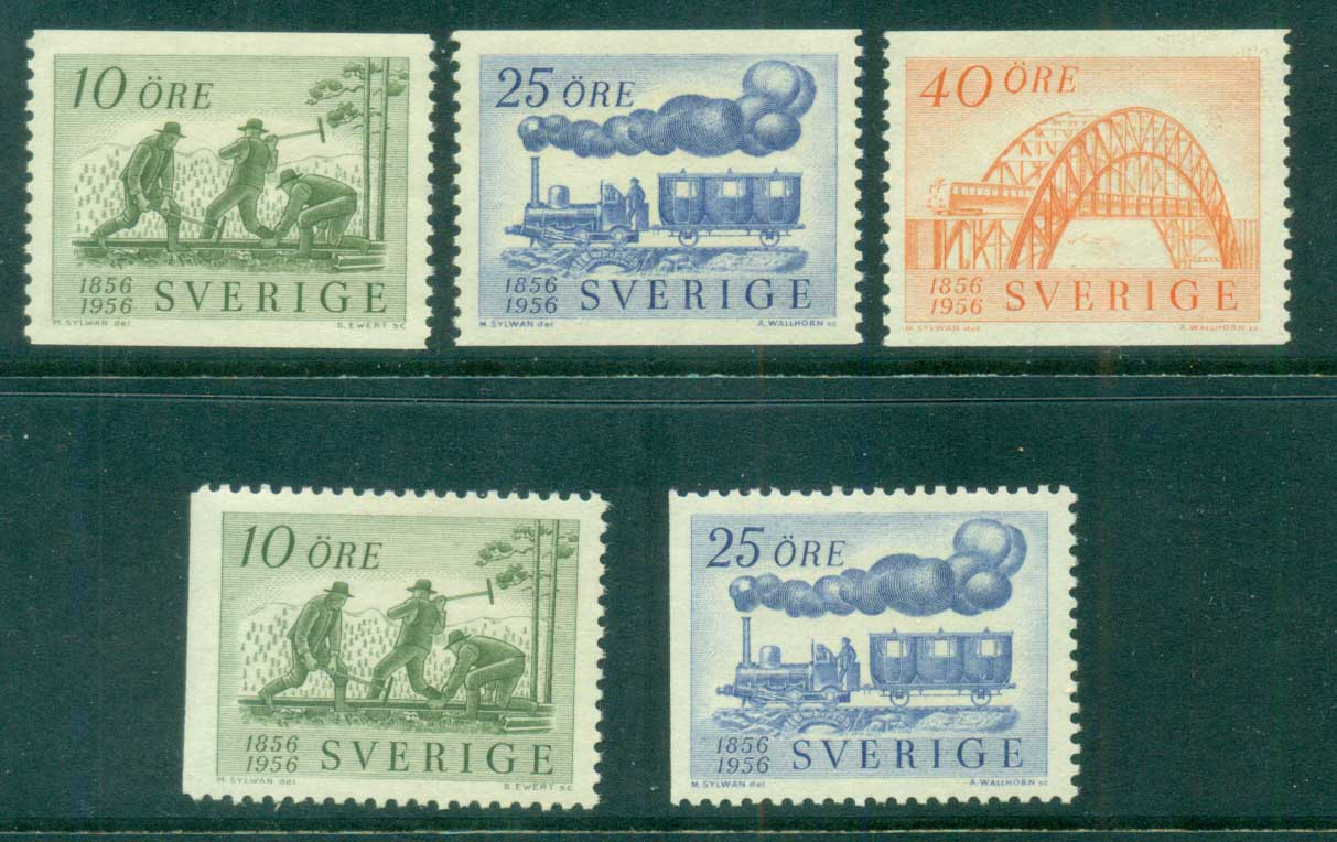 Sweden 1956 Centenary of Swedish Railroads MH lot83822