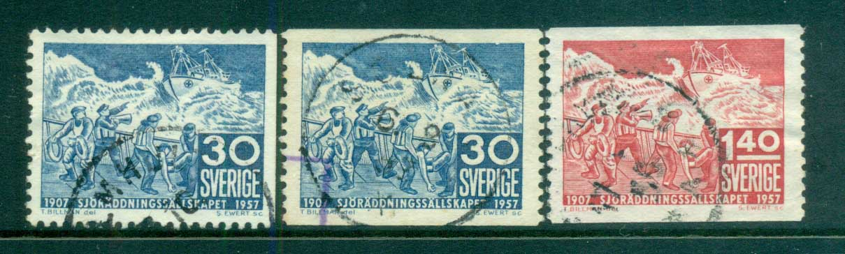 Sweden 1957 Swedish Life Saving Society FU lot83823