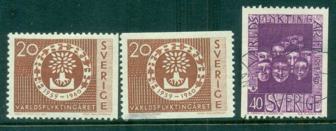 Sweden 1960 World Refugee Year MH/ FU lot83830